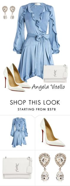 """Untitled #880"" by angela-vitello on Polyvore featuring Zimmermann, Christian Louboutin, Yves Saint Laurent and Dolce&Gabbana"