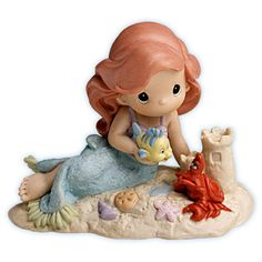 Ariel, Flounder and Sebastian Precious Moments!!! SO CUTE!!! :D