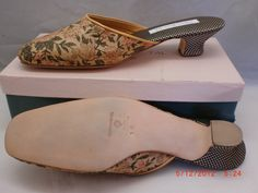 d10886b05ad Details about Olivia Rose Tal Kitten Heel Mules w ponyhair leopard print  top panel size 6