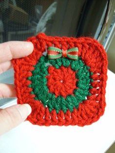 Here is my free pattern...enjoy! http://www.orble.com/free-christmas-coaster-crochet-pattern/ ❤