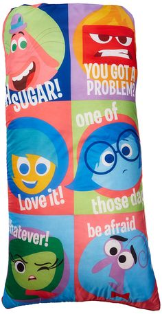 Disney/Pixar Inside Out Slumber Bag, Bonus Backpack with Straps, Multi Color. Includes a sleeping bag and sling bag. Convenient carrying bag for easy to transport. Spot clean only. Makes a great for any child. Teaching Emotions, Emotions Activities, Social Skills Autism, Disney Inside Out, Disney Pixar Movies, Disney Tees, Coping Skills, Sleepover, Games For Kids