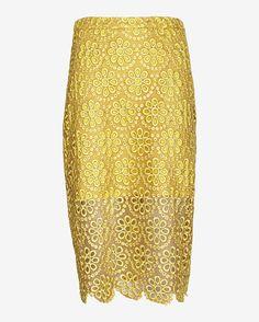 Alexis Amber Floral Lace Pencil Skirt | Shop IntermixOnline.com