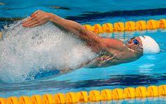 Daniel Orzechowski, da natação, no Mundial de Barcelona (Foto: Satiro Sodré / SS Press)