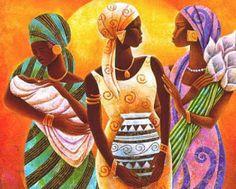 Cuadros Modernos Pinturas : Mis Lindas Negras Cuadros Africanos Decorativos