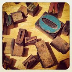Wooden letter blocks via @DOVERVILLE