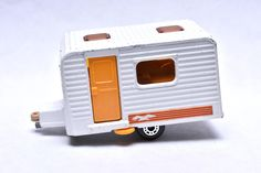 Matchbox Superfast No. 31 Caravan Camper Trailer, White, made in England, 1977, Original Vintage Die Cast Toy Car Collection by RememberWhenToys on Etsy