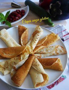 Crepes senza glutine per ricette dolci e salate.Ricetta base senza burro