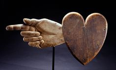 Ezra Ames and Bella Dexter  Heart-and-Hand weathervane  Chelsea, Massachusetts, 1830  Private collection