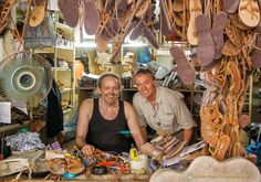 The most famous sandal maker in Athens