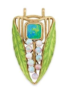 Opal and Emanel Pendant, Louis Comfort Tiffany, 1905