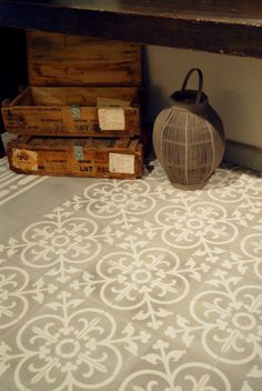 Castelo handmade Tiles ® - Hall Kitchen floor tiles - 20x20cm - www.castelo.com -Light Grey and White - 1012LG-5012LG