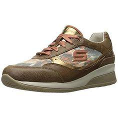Skechers  Fashion Sneakers Brown Leather Women8Medium (B M)
