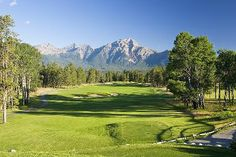 Fairmont Jasper Park Lodge Golf Course in Jasper, Alberta, Canada, the view from every tee box is awesome