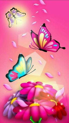 Wallpaper Android - Wallpaper Android Pink Butterfly - Best Mobile Wallpaper - Wallpaper World Flower Phone Wallpaper, Heart Wallpaper, Butterfly Wallpaper, Butterfly Flowers, Cellphone Wallpaper, Galaxy Wallpaper, Nature Wallpaper, Mobile Wallpaper, Wallpaper Backgrounds