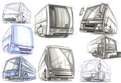 Bunch of Buses by José Antonio Derbli, via Behance