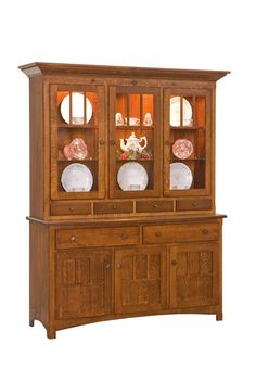 Amish Royal Mission Three Door Hutch