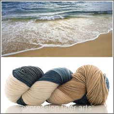 $24 - SAND AND SURF - Resilient Sock Yarn (Expression Fiber Arts) - amazzzzing stuff for socks, shawls, scarves, cowls, baby clothes and blankets, you name it. Machine-washable, stretchy and oh-so-soft.