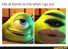 home, vs, out, monster, green