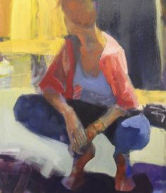 "Melinda Cootsona ""Bracelet"" 31 x new work at The Studio Shop, Burlingame, CA oil on canvas Figure Painting, Figure Drawing, Painting & Drawing, Portrait Art, Portraits, Life Drawing, Beautiful Paintings, Oeuvre D'art, Contemporary Paintings"