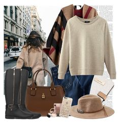 """""""Untitled #1247"""" by nookiefime ❤ liked on Polyvore featuring Burberry, Calvin Klein, 7 For All Mankind, Akira, American Eagle Outfitters, Casetify and By Terry"""