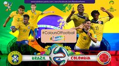 Are you excited for the match? #Brazil vs #Colombia Enjoy the Colours of #WorldCup2014 #ColoursOfFootball #BRAvsCOL