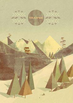 Beautiful Geometric Modernist Illustrations by Matthew Lyons