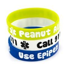 @rachel wisniewski Peanut Allergy/Epipen Lime Silicone Medical Bands #waterproof #medical_ID #silicone #T1D #diabetes #diabetic #laurens_hope #laurenshope #peanut_allergy #allergies #allergy_alert