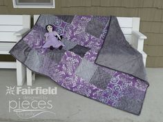 Violeta Cuddle Quilt-in-a-Day Free Pattern - Shannon Fabrics and Fairfield Cuddle Cake Challenge