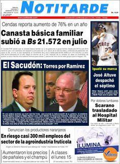 #DesayunoInformativo #Titulares #Prensa #Noticias #Primerapagina 03/09/2014 @Notitarde