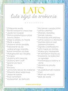 Lista zdjęć do zrobienia latem | Sen Mai - techniki DIY, wnętrza, uroda, wyzwanie foto List Challenges, Things To Do When Bored, Pretty Notes, Bullet Journal Themes, Beautiful Mind, School Gifts, Life Photography, Diy For Kids, Note Cards