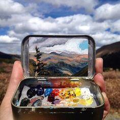 Tint travel painting kit.