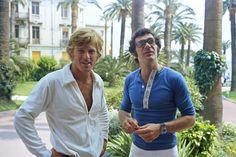 Robert Redford and Sydney Pollack, 1972 (Festival de Cannes)
