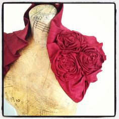 Deep Ruby Dupioni Raw Silk Wrap by bonziebridal on Etsy, $79.00
