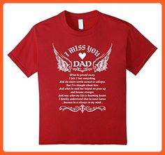 Kids FOR DAD IN HEAVEN Tshirt 10 Cranberry - Relatives and family shirts (*Partner-Link)