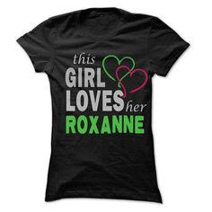 This Girl Love Her ROXANNE - 99 Cool Name Shirt ! - #raglan tee #tshirt necklace. CHECK PRICE => https://www.sunfrog.com/LifeStyle/This-Girl-Love-Her-ROXANNE--99-Cool-Name-Shirt-.html?68278