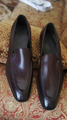 Gaziano & Girling Cannes in Burgundy Calfskin, double leather sole