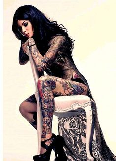 Kat Von D is a popular tattoo artist that always says her tattoos are a canvas of her life.