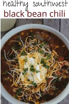 Crockpot chicken and black bean chili