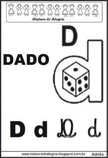 Alfabeto ilustrado letra D