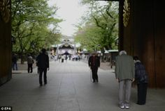 Controversial: The Yasukuni shrine was built in 1869 under Emperor Meiji in memory of the ...