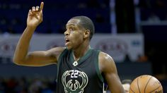 #NBA  CHARLOTTE, NC - JANUARY 16:  Khris Middleton #22 of the Milwaukee Bucks reacts during their game against the Charlotte Hornets at Time Warner Cable Arena on January 16, 2016 in Charlotte, North Carolina. NOTE TO USER: User expressly acknowledges and agrees that, by downloading and or using this photograph, User is consenting to the terms and conditions of the Getty Images License Agreement.  (Photo by Streeter Lecka/Getty Images)