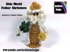Rainbow Loom Olde World Father Christmas/Santa/St Nicolas Action Figure/Doll/Charm (Xmas) tutorial by Izzalicious Designs.
