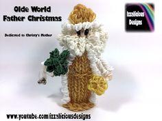 Rainbow Loom Olde World Father Christmas/Santa/St Nicolas Action Figure/Doll/Charm (Xmas) tutorial by Izzalicious Designs.