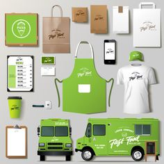 Find Vector Food Truck Corporate Identity Template stock images in HD and millions of other royalty-free stock photos, illustrations and vectors in the Shutterstock collection. Food Truck Business, Corporate Identity Design, Branding Design, Logo Design, Design Set, Vegan Food Truck, Food Truck Menu, Foodtrucks Ideas, Bussines Ideas
