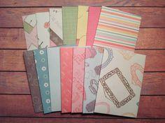 handmade envelopes, set of 14 envelopes, envelopes, whimsical envelopes, stationery, by PinkyPromiseBargains on Etsy