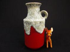 Vintage Fat Lava Vase / Ü-Keramik (Uebelacker)   Mid century   West German Pottery   60er von ShabbRockRepublic auf Etsy