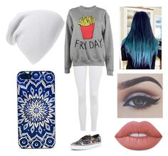 """""""School with friends #5"""" by morgan-924 ❤ liked on Polyvore featuring Phase 3, Topshop, Adolescent Clothing, Vans, Lime Crime and Bellezza"""