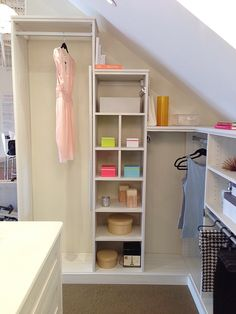 closet ideas slanted ceilings - - Google Search More