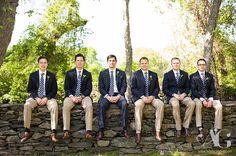 groomsmen, best man, khaki pants, navy jacket, joseph aboud suit, groom, pink and navy wedding colors, colt state park, blithewold mansion, bristol, rhode island #aubreygreenephoto