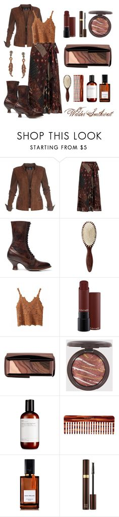 """""""Wilder Southwest:  Angelfire Prairie"""" by wildersouthwest ❤ liked on Polyvore featuring Christophe Robin, MAC Cosmetics, Hourglass Cosmetics, Mason Pearson, Diana Vreeland, Tom Ford and Southwest Moon"""